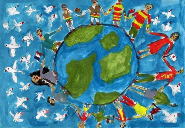 Exposition de dessins d 39 enfants sur le th me de la paix saint michel de rieufret - Dessin sur la paix ...